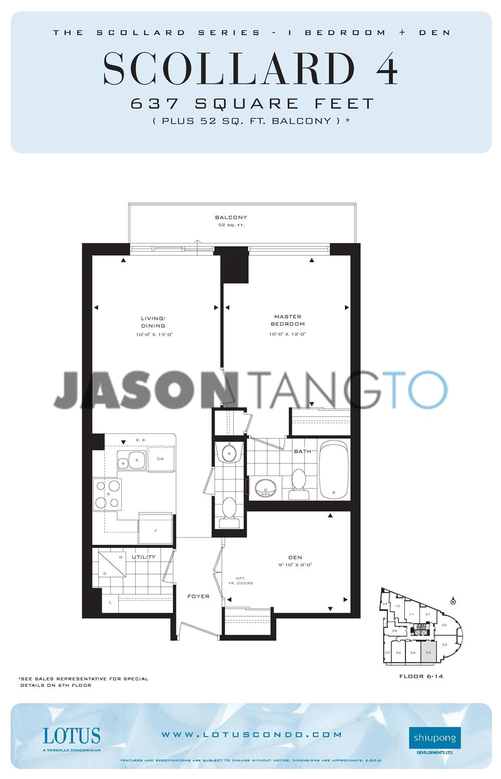 Lotus 8 scollard st toronto condos lofts for 133 hazelton floor plans