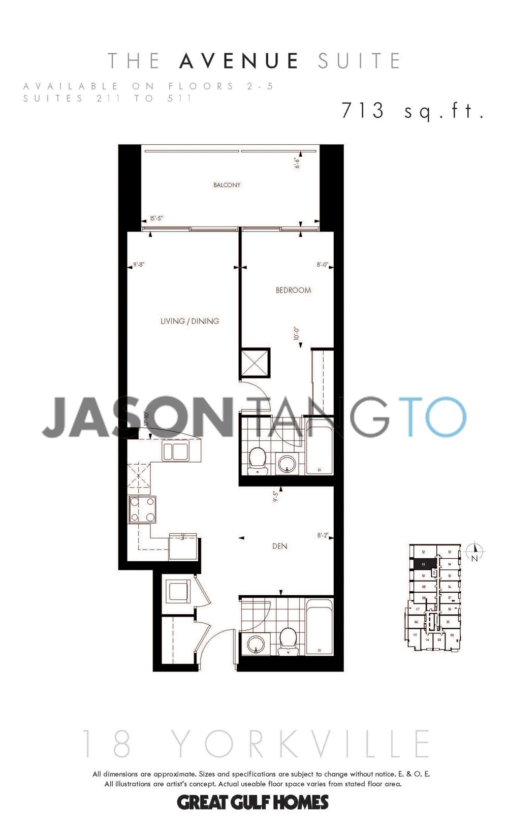 18 yorkville toronto condos lofts for 133 hazelton floor plans